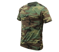 Rothco Kids Woodland Camo Heavyweight T-Shirt - 7703