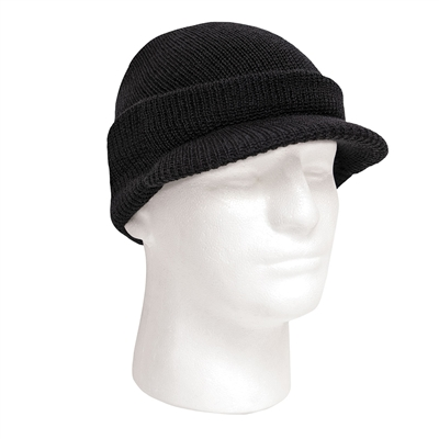Rothco Black Wool Jeep Cap - 7708