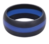 Rothco Black Thin Blue Line Silicone Ring 800