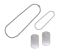Rothco Dog Tag Set with Chains - 8000