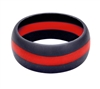 Rothco Black Thin Red Line Silicone Ring 801