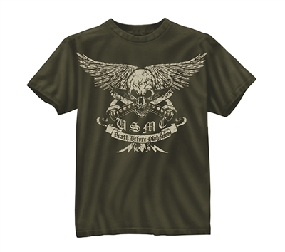 Rothco Marines Death Before Dishonor T-Shirt - 80385