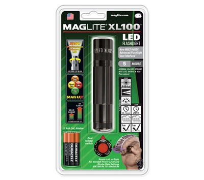 Maglite Black Xl100 Led 3 Cell - S3016