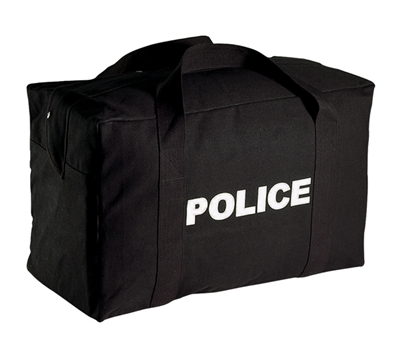 Rothco Black Canvas Large Police Bag - 8116