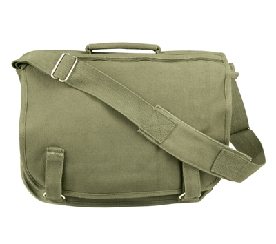 Rothco Olive Drab Canvas European School Bag - 8119