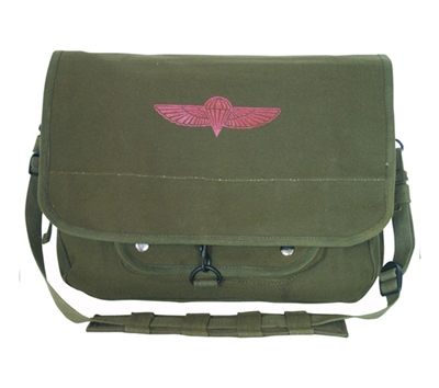 Rothco Olive Drab Canvas Israeli Paratrooper Bag - 8128