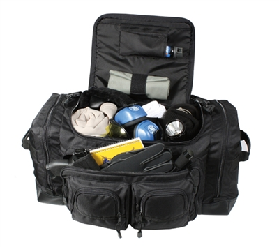 Rothco Black Deluxe Law Enforcement Gear Bag - 8149
