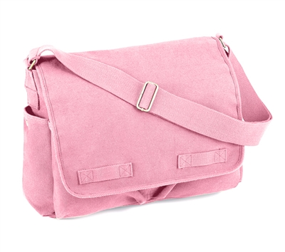 Rothco Pink Canvas Messenger Bag - 8154