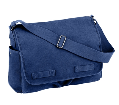 Rothco Blue Canvas Messenger Bag - 8159