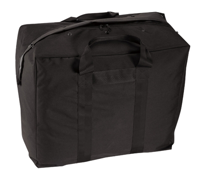 Rothco Black Enhanced Aviator Kit Bag - 8163