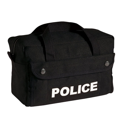 Rothco Black Canvas Small Police Bag - 8185