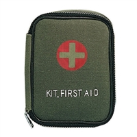 Rothco Military Zipper First Aid Kit with Contents - 8328