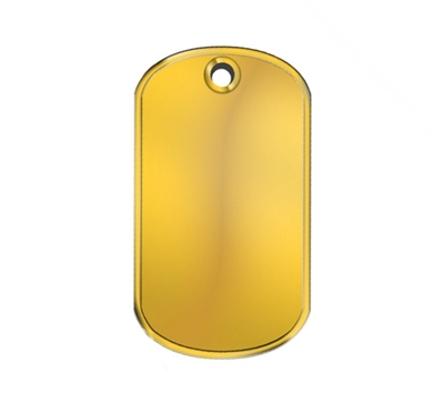 Rothco Gold Dog Tag - 8386