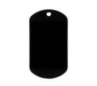 Rothco Black Dog Tag - 8393