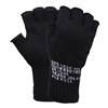 Rothco Black Fingerless Wool Gloves - 8411