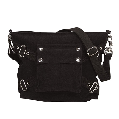 Rothco Black Vintage Canvas Bag - 8477