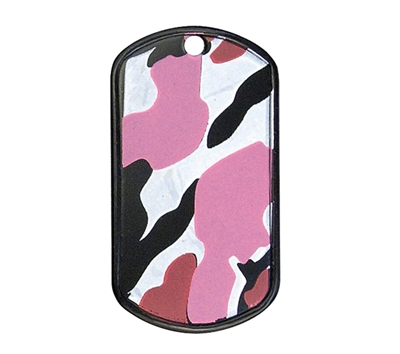 Rothco Pink Camo Dog Tags - 8499