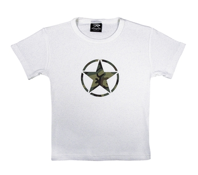 Rothco Womens White Star T-Shirt - 8500