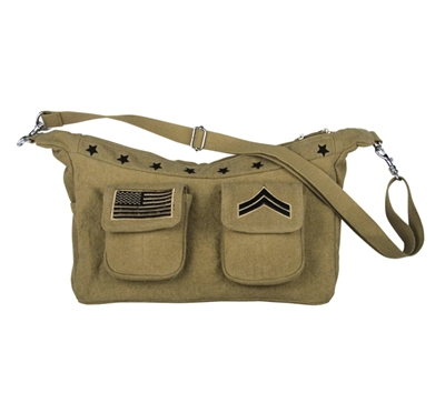 Rothco Vintage Khaki Bag with Stars - 8607