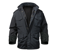 Rothco Black Nylon Lightweight M-65 Jacket - 8644