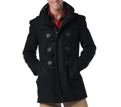 Rothco Black Duffle Coat - 8725