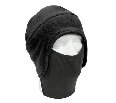 Rothco Black Convertible Fleece Face Mask - 8943