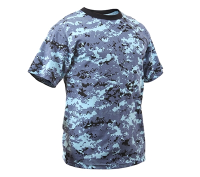 Rothco Digital Sky Blue Camo T-shirt - 8947