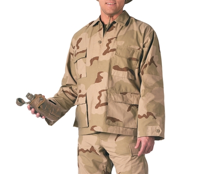 Rothco Tri-Color Desert BDU Shirts - 8960