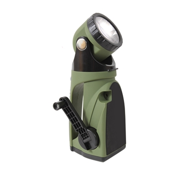 Rothco 9 LED Hand Crank Swivelhead Flashlight - 898