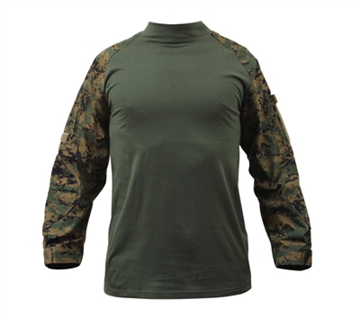 Rothco Woodland Digital Camo Combat Shirt - 90005