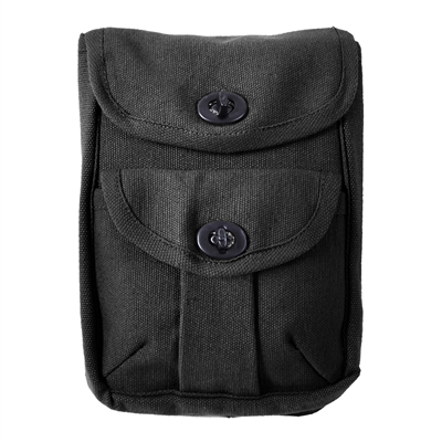 Rothco Black 2-pocket Ammo Pouch - 9009