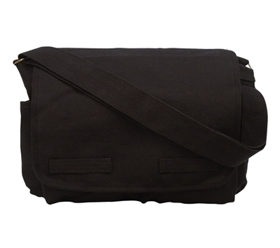 Rothco Black Classic Heavyweight Messenger Bag - 9118