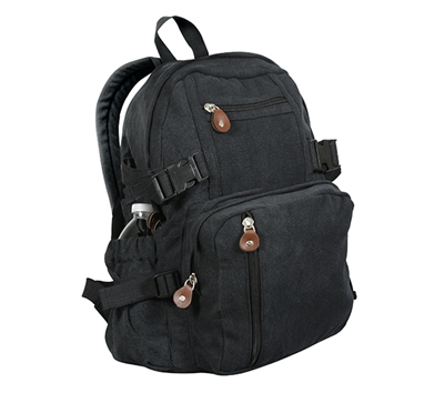 Rothco Black Vintage Mini Backpack - 9153