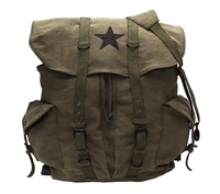 Rothco Olive Drab Vintage Star Back Pack - 9158