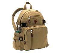 Rothco Khaki Vintage Mini Star Backpack - 9162