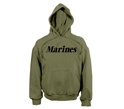 Rothco Olive Drab Marines Hooded Sweatshirt - 9176