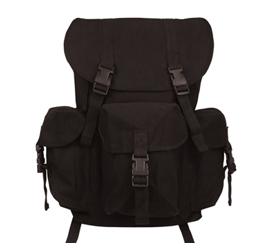 Rothco Black Canvas Outfitter Rucksack - 9202