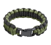 Rothco Black and Olive Drab Paracord Bracelet - 921