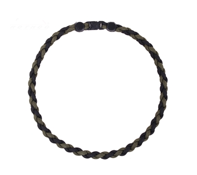 Rothco Olive Drab-Black Paracord Necklace - 92110