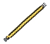Rothco Yellow and Black Paracord Bracelet - 922