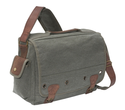 Rothco Olive Drab Canvas Trailblazer Laptop Bag - 9239