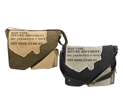 Rothco Vintage Two Tone Imprinted Map Bag - 9248