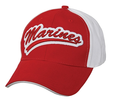 Rothco Red-White Marines Varsity Cap - 9271