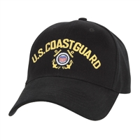 Rothco Black Coast Guard Cap - 9294