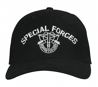 Rothco Black Special Forces Cap - 9296