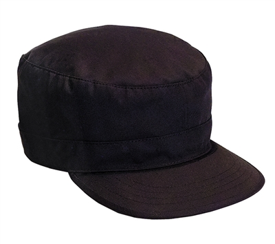Rothco Black Adjustable Fatigue Cap - 9344