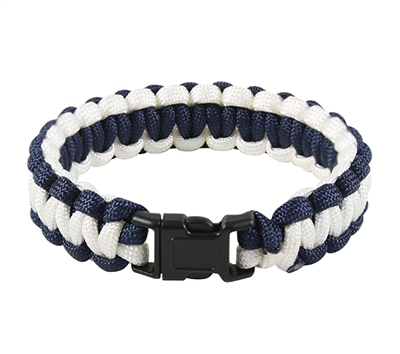 Rothco Midnight and White Paracord Bracelet - 937