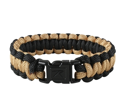Rothco Coyote and Black Paracord Bracelet - 940