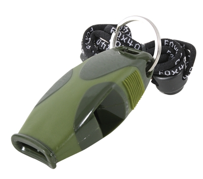 Fox 40 Olive Drab Sharx Safety Whistle - 9408