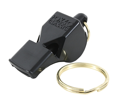 Fox 40 Sharx Black Classic Safety Whistle - 9409